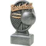 Pinwheel Script Basketball Resin Basketball Trophy Awards