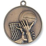 Basketball Medal Bronze Basketball Trophy Awards