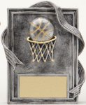 Basketball Resin Plaque Basketball Trophy Awards