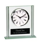 Square Glass Desk Clock Boss Gift Awards