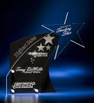 Clear Star with Black Accent Acrylic Award Patriotic Awards