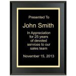 Matte Black Recognition Plaque Recognition Plaques