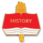 History Lapel Pin Scholastic Trophy Awards