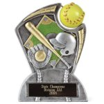Large Spin Award Softball Softball Trophy Awards