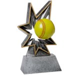 Softball Bobble Resin Softball Trophy Awards