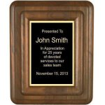 Floating Solid Walnut Plaque Walnut Plaques